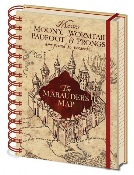 Harry Potter The Marauder's Map A5 Notebook